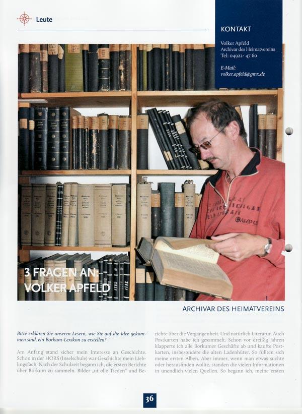 Volker Apfeld - Der Archivar des Heimatvereins