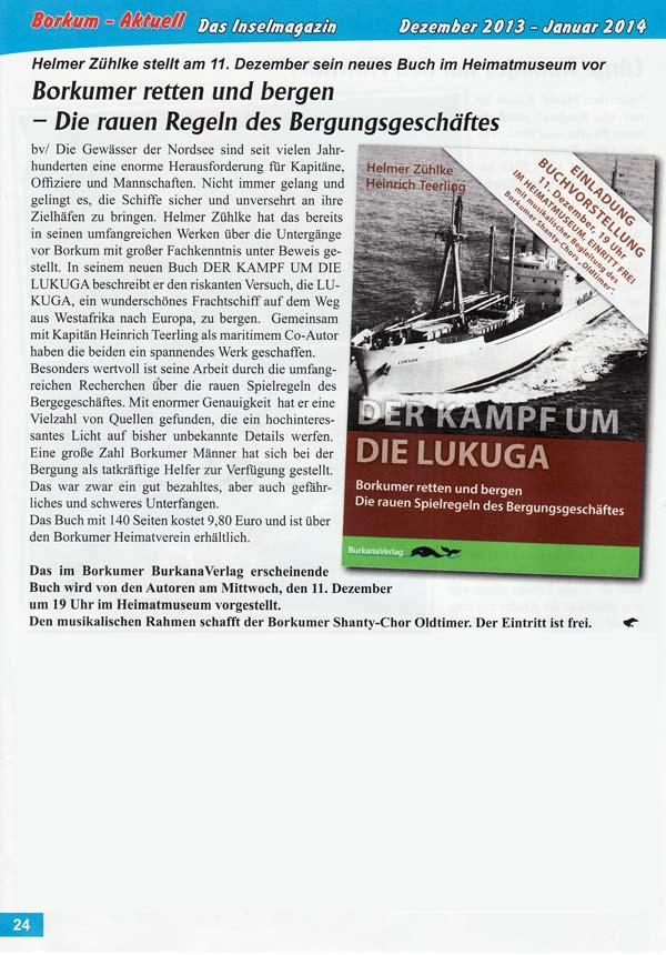 Der Kampf um die Lukuga